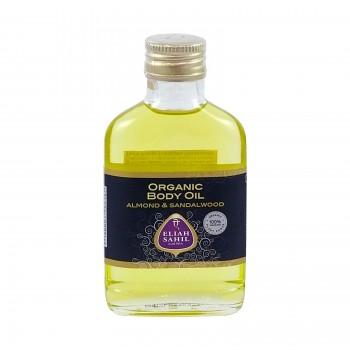 Eliah Sahil Ajurvédský bio tělový olej SANTAL & MANDLE - 100 ml