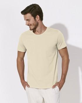 STANLEY LEADS Pánské tričko s krátkým rukávem ze 100% biobavlny - přírodní