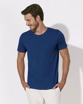 STANLEY LEADS Pánské tričko s krátkým rukávem ze 100% biobavlny - modrá deep royal