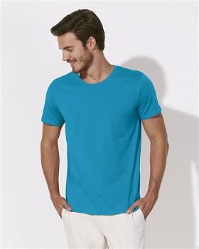 STANLEY LEADS Pánské tričko s krátkým rukávem ze 100% biobavlny - modrá azur