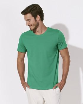 STANLEY LEADS Pánské tričko s krátkým rukávem ze 100% biobavlny - zelená vivid green