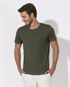 STANLEY LEADS Pánské tričko s krátkým rukávem ze 100% biobavlny - khaki