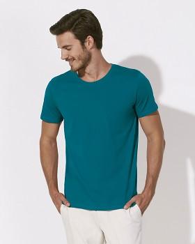 STANLEY LEADS Pánské tričko s krátkým rukávem ze 100% biobavlny - modrozelená ocean depth