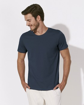 STANLEY LEADS Pánské tričko s krátkým rukávem ze 100% biobavlny - šedá india ink