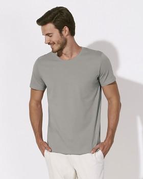 STANLEY LEADS Pánské tričko s krátkým rukávem ze 100% biobavlny - šedá violet