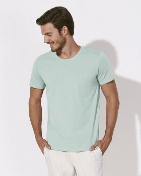 STANLEY LEADS Pánské tričko s krátkým rukávem ze 100% biobavlny - bledě modrá carribean