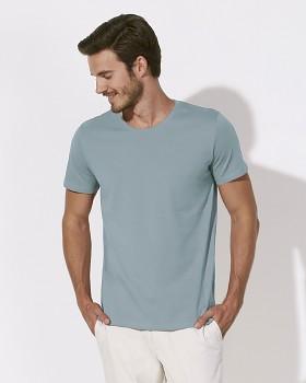 STANLEY LEADS Pánské tričko s krátkým rukávem ze 100% biobavlny - světle modrá citadel