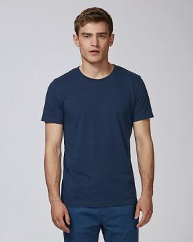 STANLEY LEADS Pánské tričko s krátkým rukávem ze 100% biobavlny - modrá black heather blue