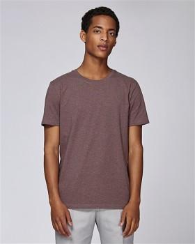 STANLEY LEADS Pánské tričko s krátkým rukávem ze 100% biobavlny - fialová black heather cranberry