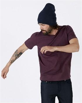 STANLEY LEADS Pánské tričko s krátkým rukávem ze 100% biobavlny - fialová heather grape red