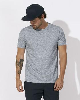 STANLEY LEADS Pánské tričko s krátkým rukávem ze 100% biobavlny - modrá slub heather blue