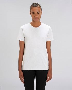 CREATOR  Unisex tričko s krátkým rukávem ze 100% biobavlny - světle šedá heather ash