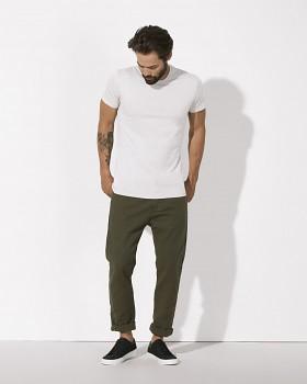 STANLEY FEELS Pánské tričko slim fit s krátkým rukávem ze 100% biobavlny - bílá