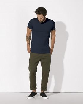 STANLEY FEELS Pánské tričko slim fit s krátkým rukávem ze 100% biobavlny - tmavě modrá navy