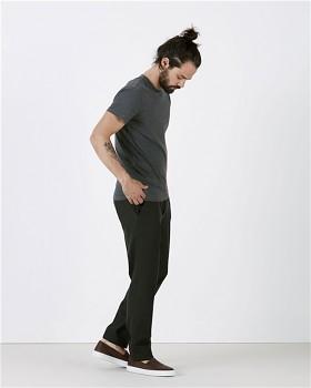 STANLEY FEELS Pánské tričko slim fit s krátkým rukávem ze 100% biobavlny - tmavě šedá dark heather grey