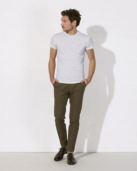 STANLEY FEELS Pánské tričko slim fit s krátkým rukávem ze 100% biobavlny - světle šedá heather ash
