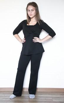 Albero dámské těhotenské kalhoty z biobavlny - černá