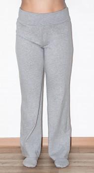 Albero dámské těhotenské kalhoty z biobavlny - šedá melange