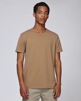 STANLEY HIPS Pánské tričko s krátkým rukávem ze 100% biobavlny - camel
