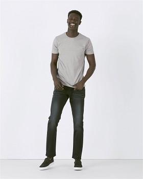 STANLEY HIPS Pánské tričko s krátkým rukávem ze 100% biobavlny - šedá melange heather