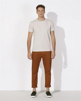 STANLEY HIPS Pánské tričko s krátkým rukávem ze 100% biobavlny - světle šedá cream heather