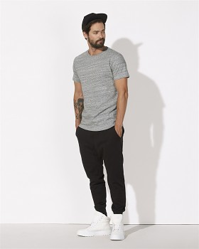 STANLEY HIPS Pánské tričko s krátkým rukávem ze 100% biobavlny - šedá slub heather grey