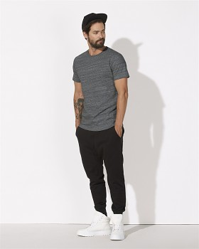 STANLEY HIPS Pánské tričko s krátkým rukávem ze 100% biobavlny - šedá slub heather steel grey