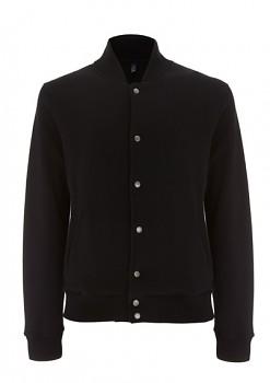 EP VARSITY pánská bunda ze 100% biobavlny - černá