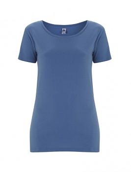 FS Dámské tričko ze 100% fairtrade biobavlny - modrá faded denim