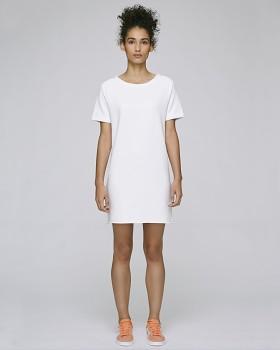 Stella TENDERS dámské šaty z biobavlny - bílá