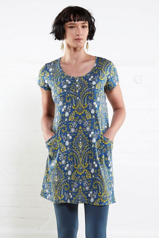 HENLEY dámské letní tunikové šaty ze 100% biobavlny 30denni garance ... b9274477d6