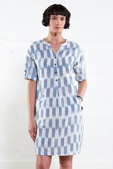IKAT dámské letní šaty z tkané bavlny
