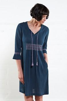 ATLANTIC dámské letní šaty z mačkané bavlny