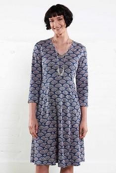 BLUE FLARED dámské letní šaty ze 100% biobavlny