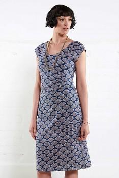 RUSH dámské letní šaty ze 100% biobavlny  - denim