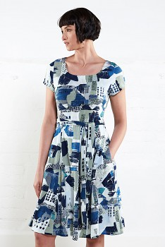 FERN dámské letní šaty z biobavlny