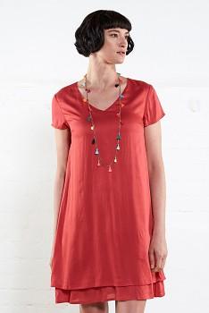 PLAIN dámské letní šaty - červená cherry