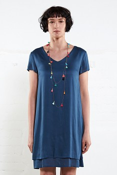PLAIN dámské letní šaty - modrá atlantic