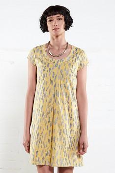 FERN dámské letní tunikové šaty z bavlny - žlutá sunflower