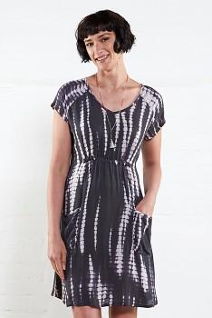 ASHLEY dámské letní šaty z mačkané bavlny