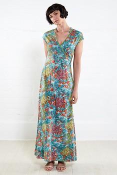 MOCK dámské letní maxi šaty ze 100% biobavlny - mango