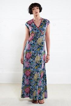 MOCK dámské letní maxi šaty ze 100% biobavlny - sherbet