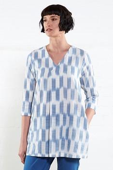 IKAT dámská letní tunika z ručně tkané bavlny