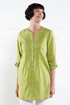PIN dámská tuniková košile - zelená apple