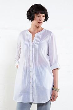 PIN dámská tuniková košile - bílá