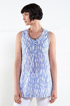 FEATHER dámský top - modrá