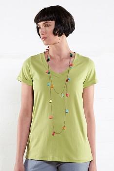 VEE dámské tričko s krátkými rukávy ze 100% biobavlny - zelená apple