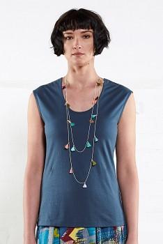 VEST dámské tričko bez rukávů ze 100% biobavlny - tmavě modrá atlantic