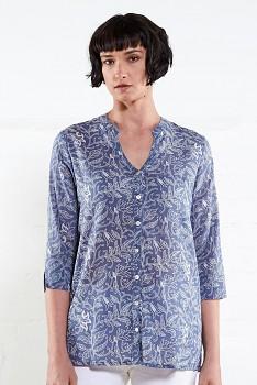 TRELIS dámská letní košile z bavlny - modrá