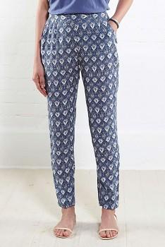 FILIGREE dámské letní kalhoty - modrá denim